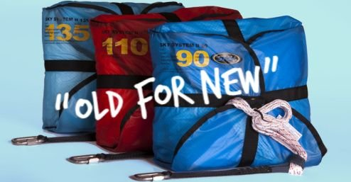 Old for New! Discount on any Sky reserve parachute, when you trade in your old one.